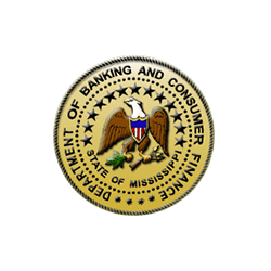 The Mississippi Department of Banking and Finance Logo